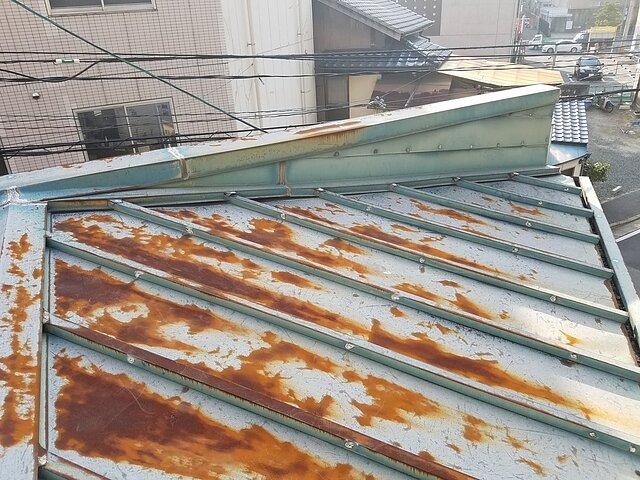 福岡市 中央区 瓦棒板金屋根の張り替え