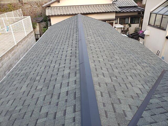 福岡県 那珂川市 葺き替え工事 瓦の種類:シングル