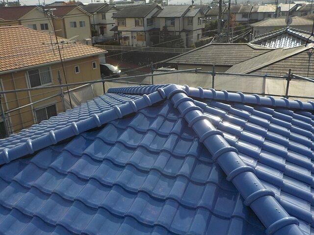 福岡市 南区 葺き替え工事 瓦の種類:石州S型陶器瓦 スーパーモランS