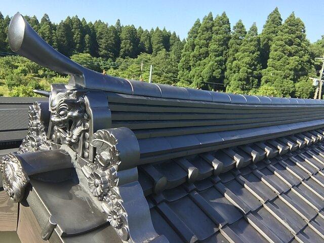 熊本県 地震の影響で棟が損壊 積み直し(出張応援)