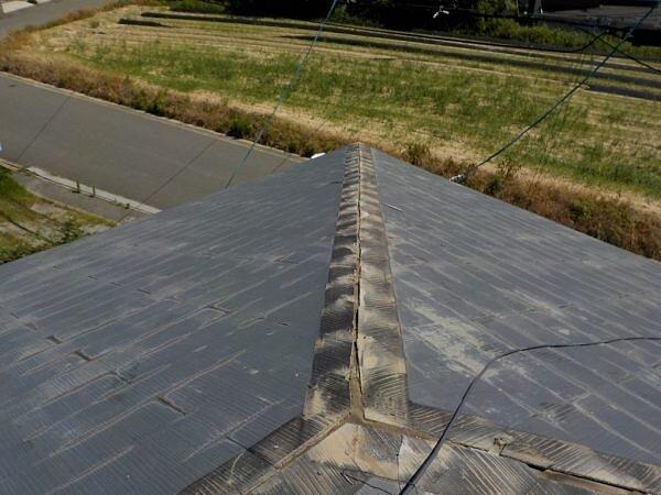 棟板金の入替えと瓦の差し替え 福津市西福間|福岡市南区の尾籠瓦工業の画像