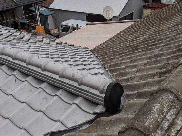 福岡市 早良区 雨漏りによる部分葺き替え工事
