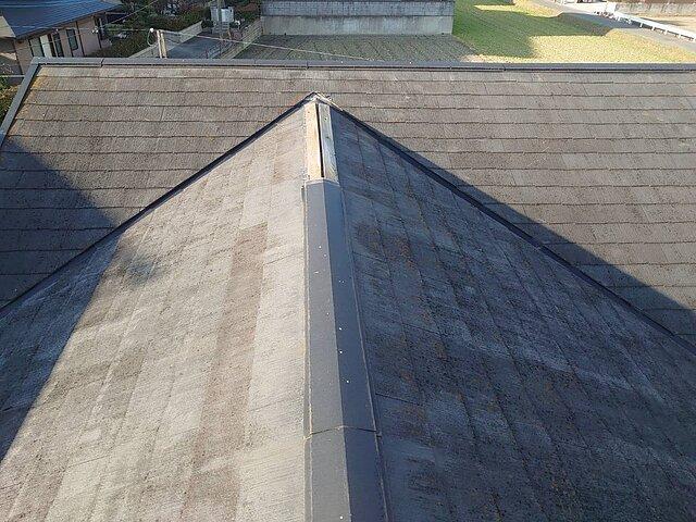 福岡県 糟屋郡 棟包板金の取り替え 瓦の種類:コロニアル