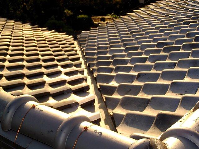 福岡市 南区 谷の入れ替え工事 瓦の種類:いぶし瓦